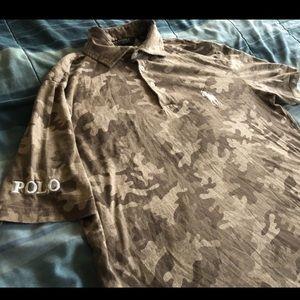 EUC Polo Ralph Lauren Camo Shirt